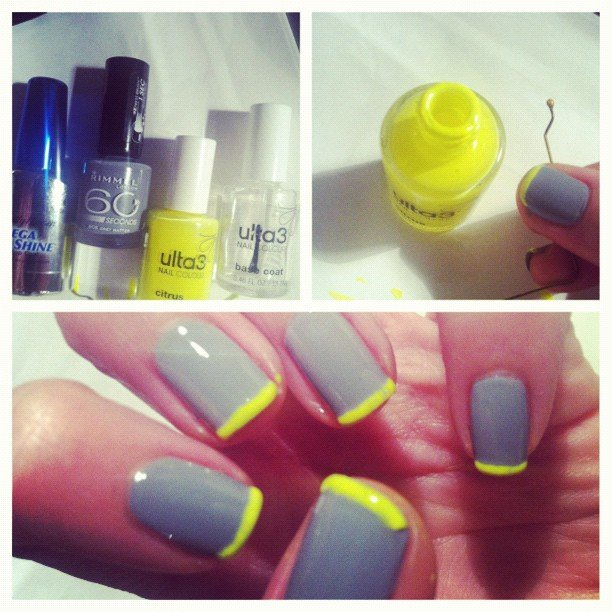 Alison went for neon tips — applied with a simple bobby pin!