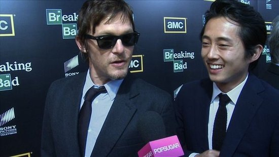 Video: The Walking Dead's Norman Reedus and Steven Yeun Size Up Their Zombie Survival Skills
