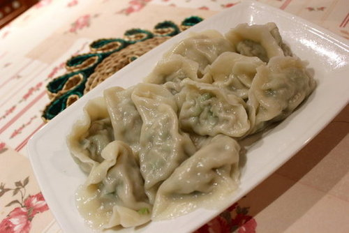 Homemade String Beans Dumplings