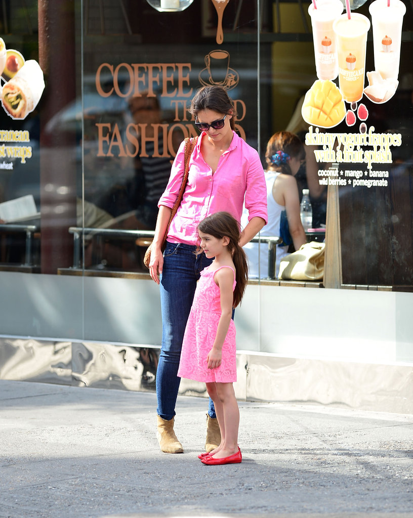 Katie Holmes and Suri Cruise matched in NYC on Sunday.