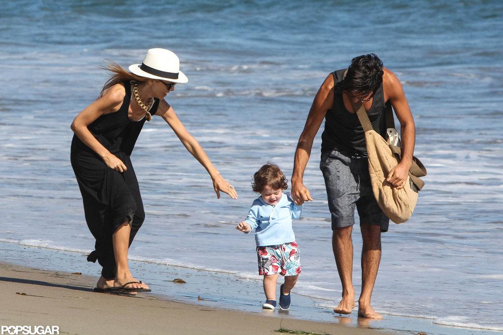 Rachel Zoe and a friend helped Skyler while taking a beach walk in Malibu.