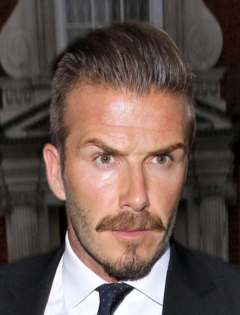 David Beckham rocked serious facial hair.