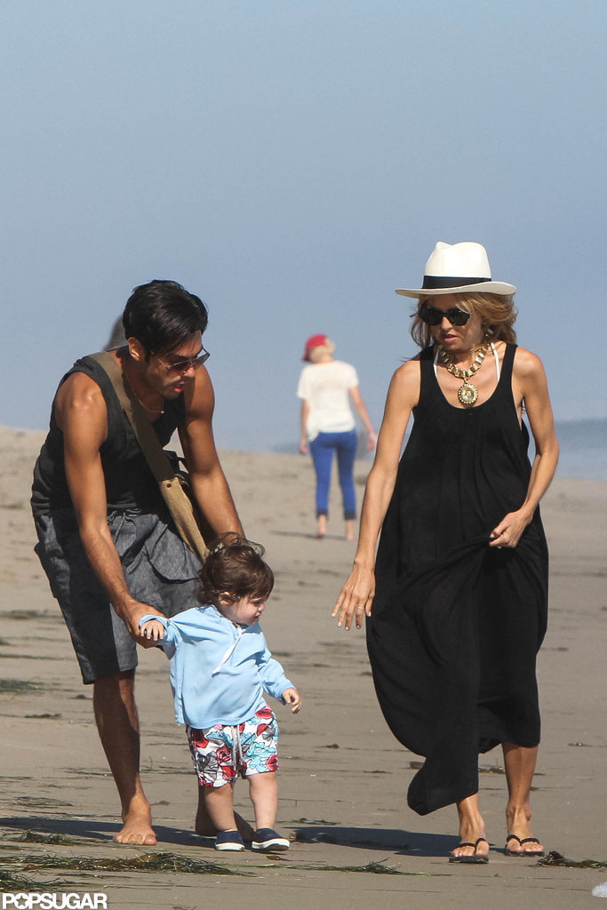 Rachel Zoe and a friend took Skyler to the beach in Malibu.
