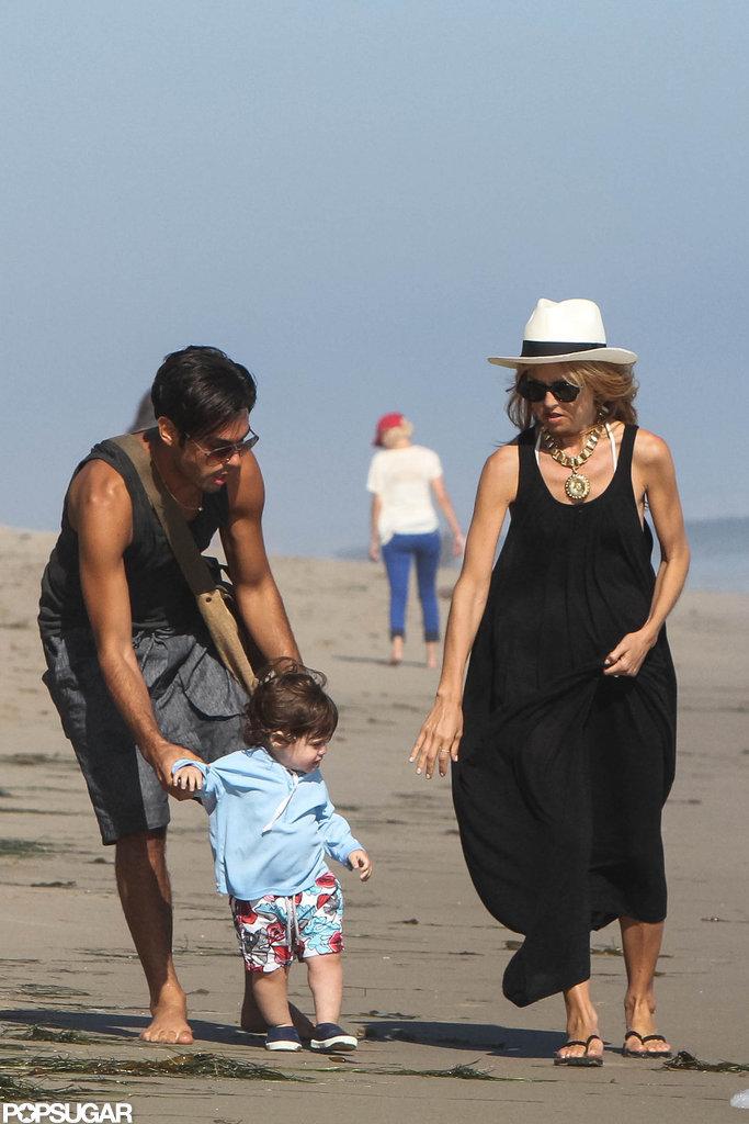 Rachel Zoe and a friend took Skyler to the beach in Malibu.