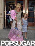 Heidi Klum spent the day in NYC with her kids.