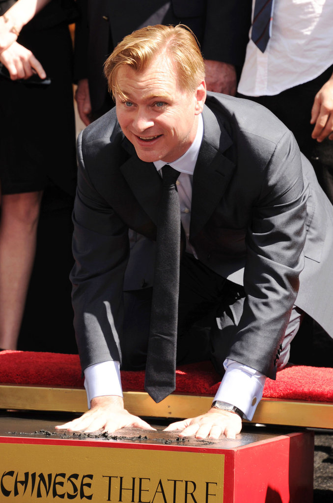 Christopher Nolan was honored at his hand and footprint ceremony in LA.