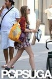 Elizabeth Olsen carried groceries out of Whole Foods.