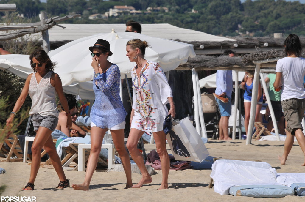 Kate Moss kept it casual in the South of France.