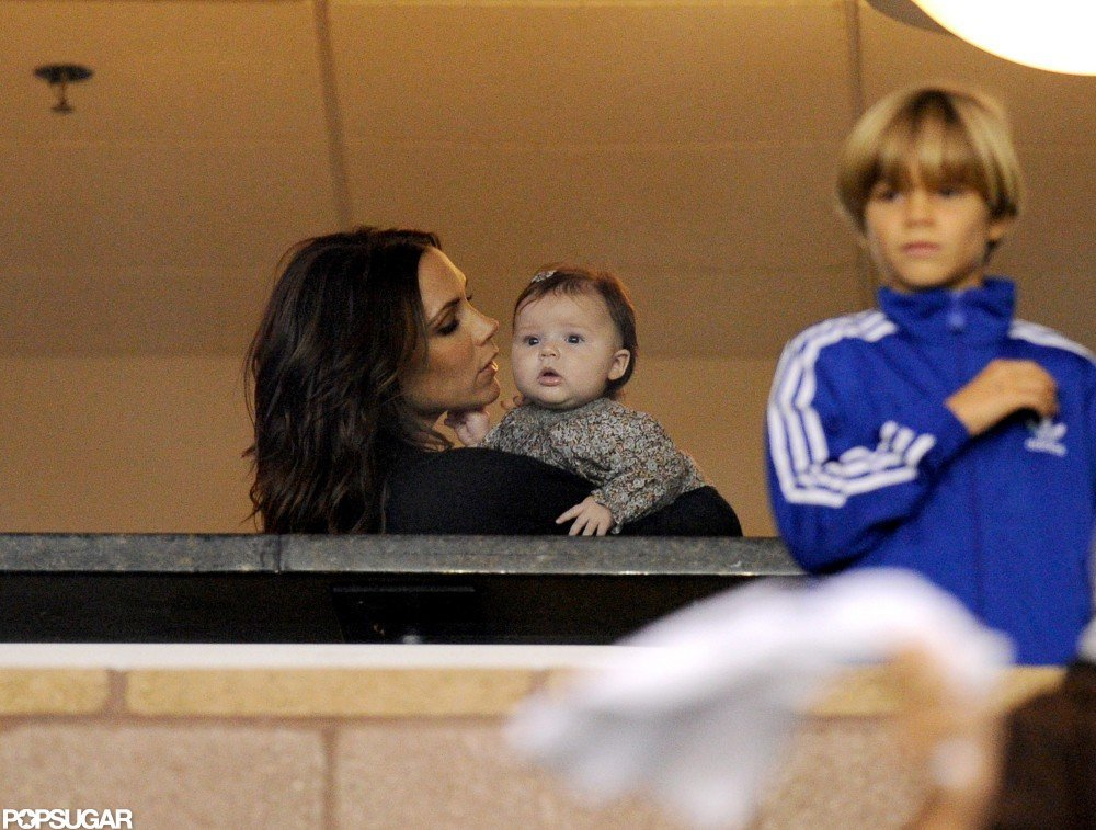 The entire Beckham family was on hand to watch David and the LA Galaxy play for the MLS Western Conference Championship in November 2012.
