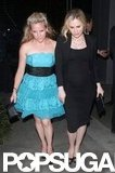 Anna Paquin wore all black while attending the True Blood wrap party.