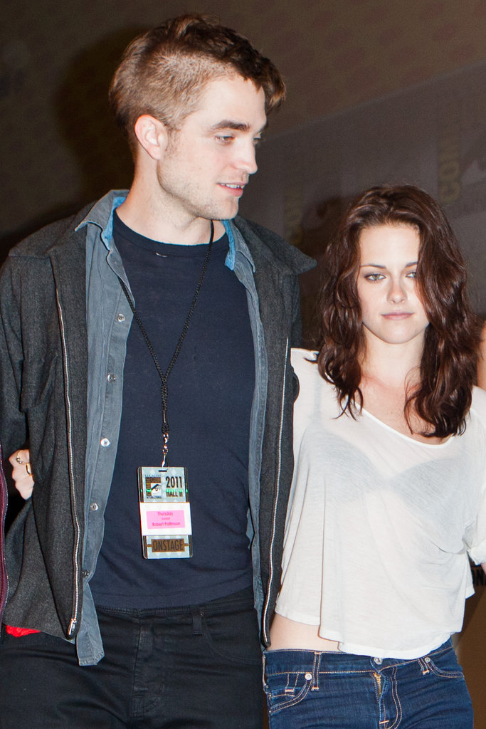 Robert Pattinson showed off a new haircut in 2011.