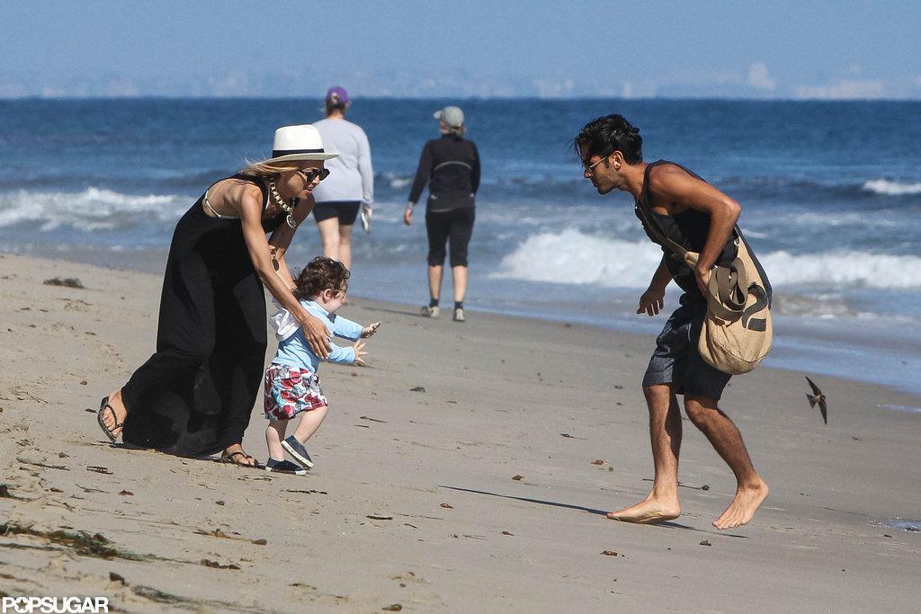 Rachel Zoe took Skyler to the beach in Malibu with a friend.