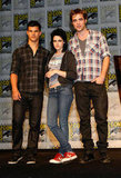 Kristen Stewart, Robert Pattinson and Taylor Lautner arrived at Comic-Con in 2009.