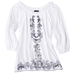 For normal daywear, pair this shorter tunic with cutoffs for shopping in the city.