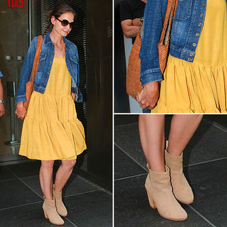 Katie Holmes Wearing Yellow Dress