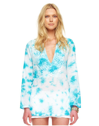 An embroidered tie-dye rendition for the ultimate surfer girl.  Michael Michael Kors Exclusive Embroidered Tunic Top ($120)