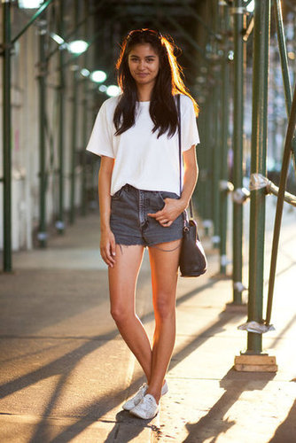 Never underestimate the crisp cool of a white tee and cutoffs for Summer. Photo courtesy of Adam Katz Sinding