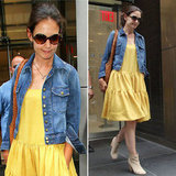 Katie Holmes Wears the Perfect Denim Jacket to see Her Divorce Lawyers in New York City: Steal Her Classic Jean Topper