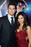 Channing Tatum kept wife Jenna Dewan close at the Magic Mike premiere in London.