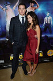 Jenna Dewan and Channing Tatum smiled together at the Magic Mike premiere in London.