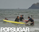 Prince William and Prince Harry caught a few waves over the weekend.