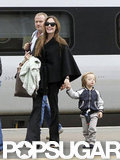 In August 2011, Knox Jolie-Pitt held mom Angelina Jolie's hand while catching a train to Glasgow.