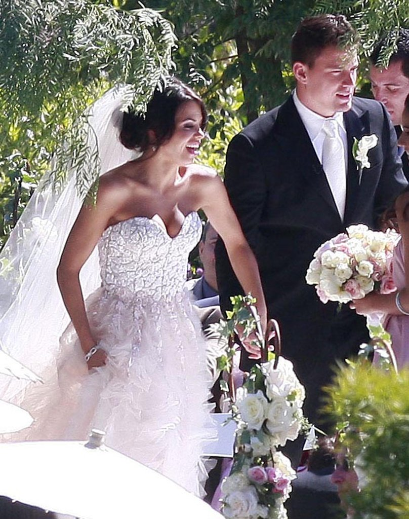 "Channing Tatum and Jenna Dewan said ""I do"" in Malibu, CA, on July 11, 2009."