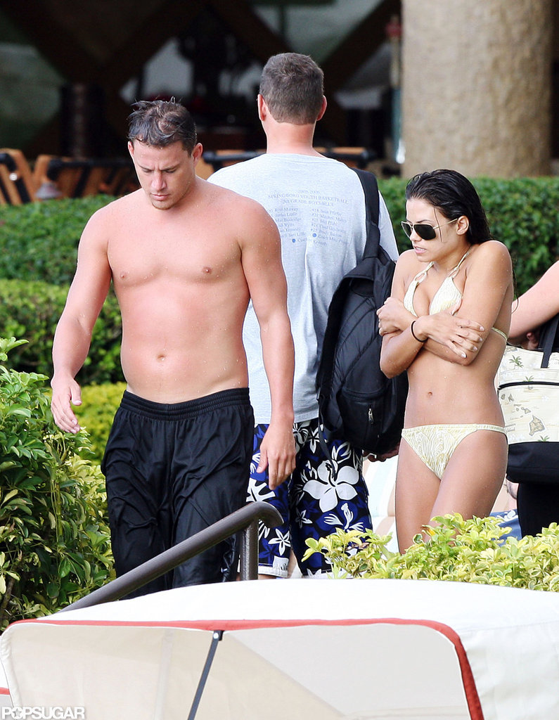 Channing Tatum and Jenna Dewan showed skin during a September 2008 getaway to Hawaii.