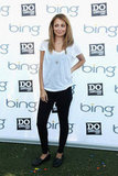 Nicole Richie stayed cool in a white t-shirt and black jeans at the Bing Summer of Doing Event in NYC.