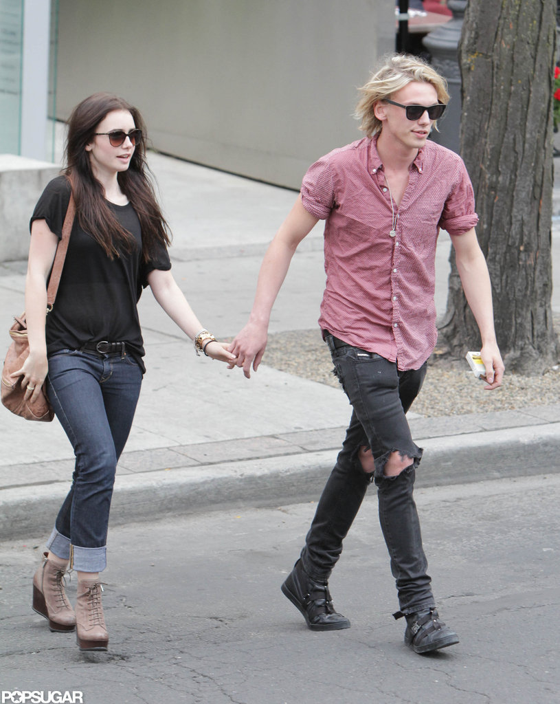 Lily Collins and Boyfriend