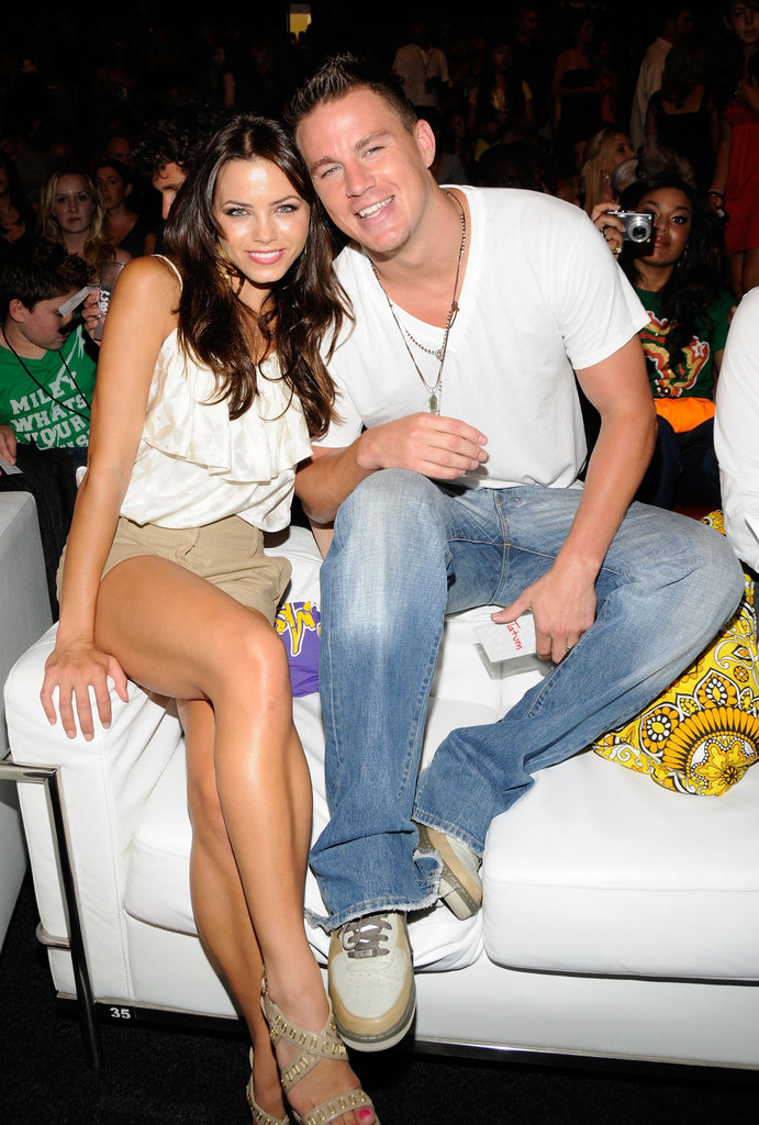 Jenna Dewan and Channing Tatum cozied up during the August 2008 Teen Choice Awards.