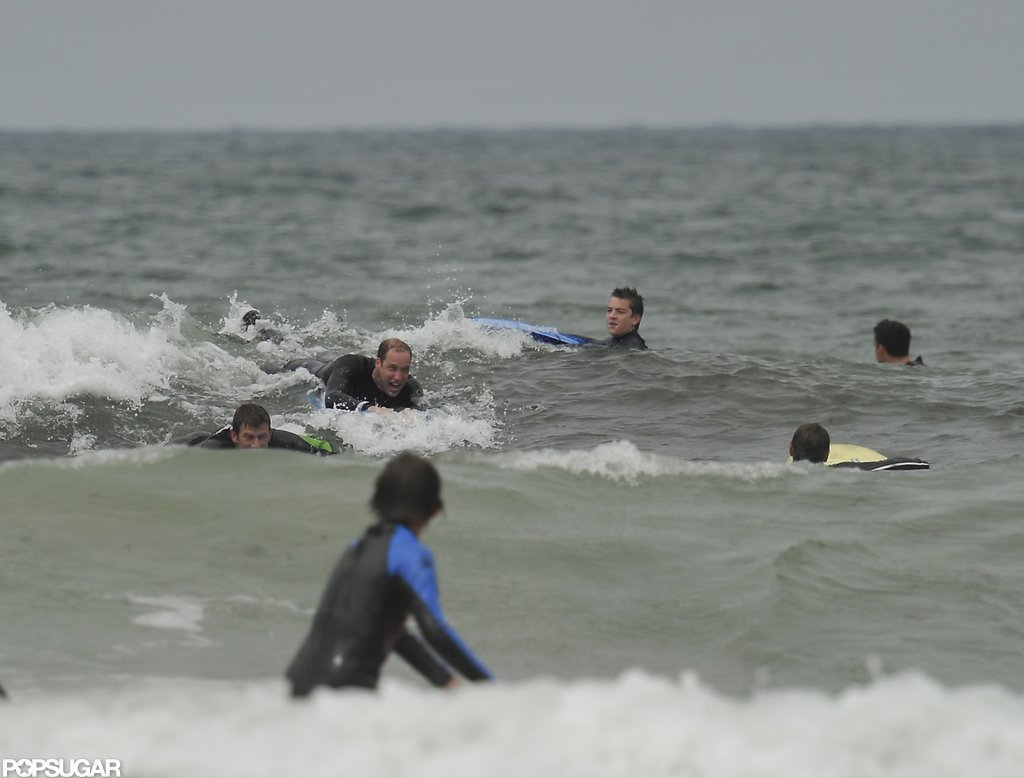 Prince William took a wave.