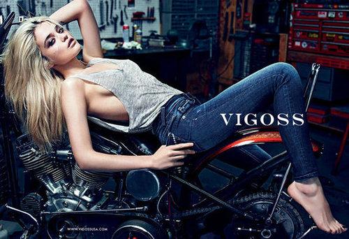 Sky Ferreira exudes a cool biker-chick edge in Vigoss's Fall ads.
