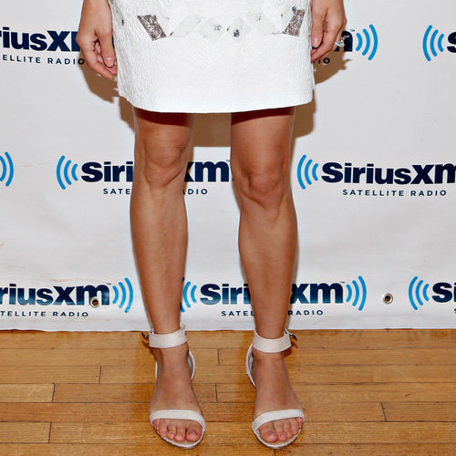 Diane Kruger Wearing White Flat Sandals