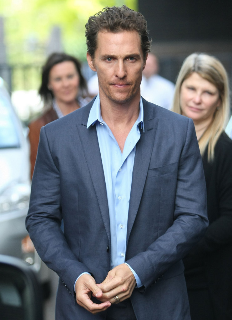Matthew McConaughey had an early morning in London.