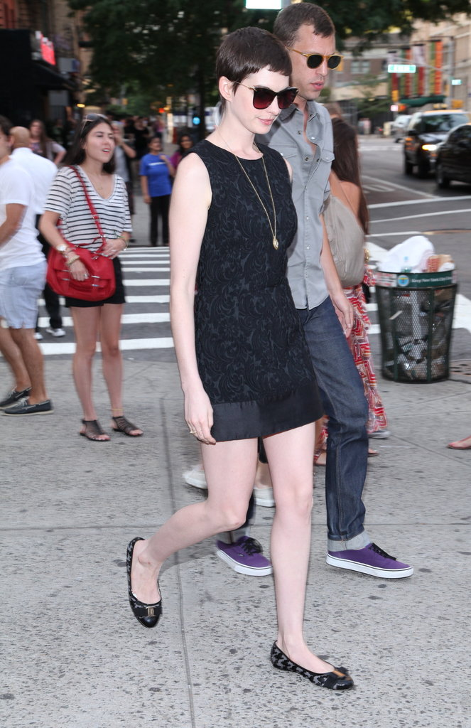 Anne Hathaway stepped out for the Shut Up & Play the Hits screening in NYC.