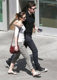 Emily Blunt and John Krasinski walked side by side in West Hollywood.