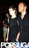 Anne Hathaway and Adam Schulman attended the Shut Up & Play the Hits screening in NYC together.