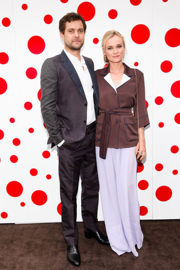 Diane Kruger and Joshua Jackson posed at Louis Vuitton's party. 