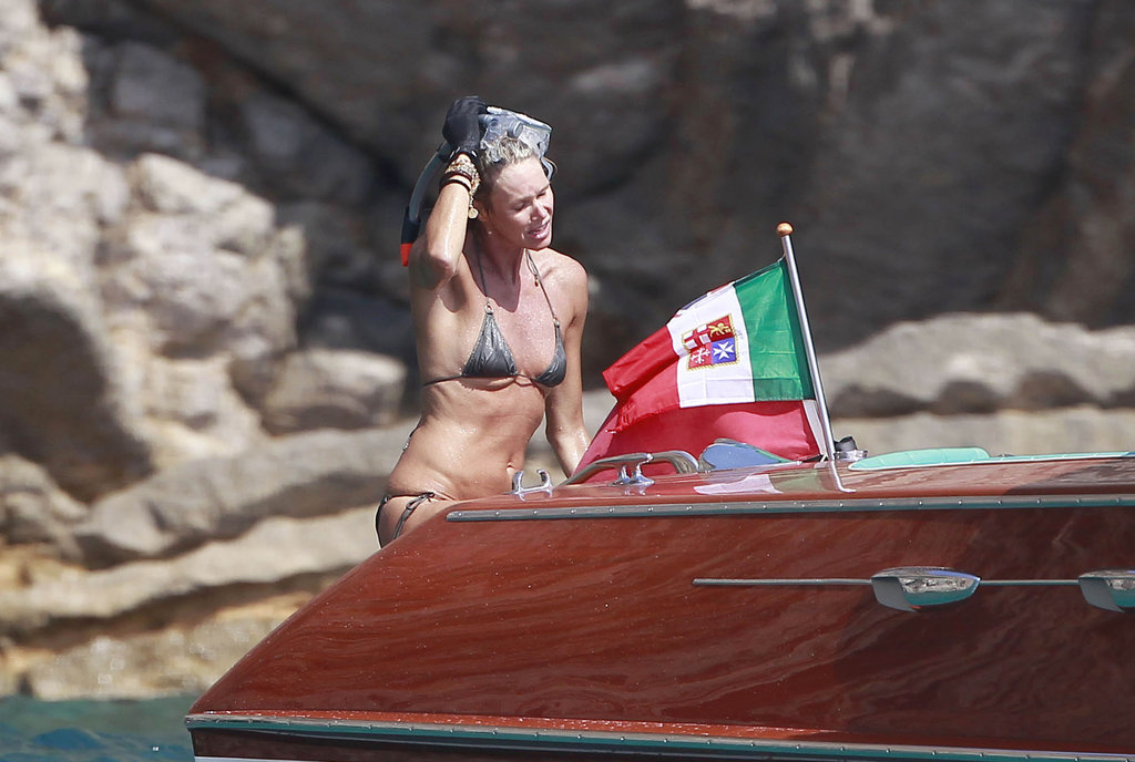 Elle Macpherson Dives in a Bikini During a Spanish Getaway
