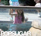 Suri Cruise watched the penguins.