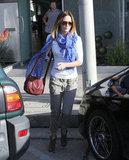 Emily Blunt looked cute in a casual ensemble after leaving the salon.