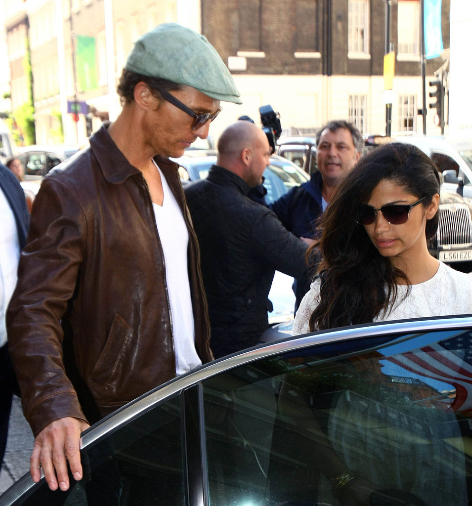 Matthew McConaughey and Camila Alves hopped in a car.