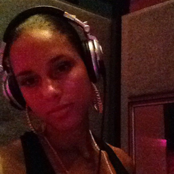 Alicia Keys recorded songs for her new album. Source: Instagram user aliciakeys