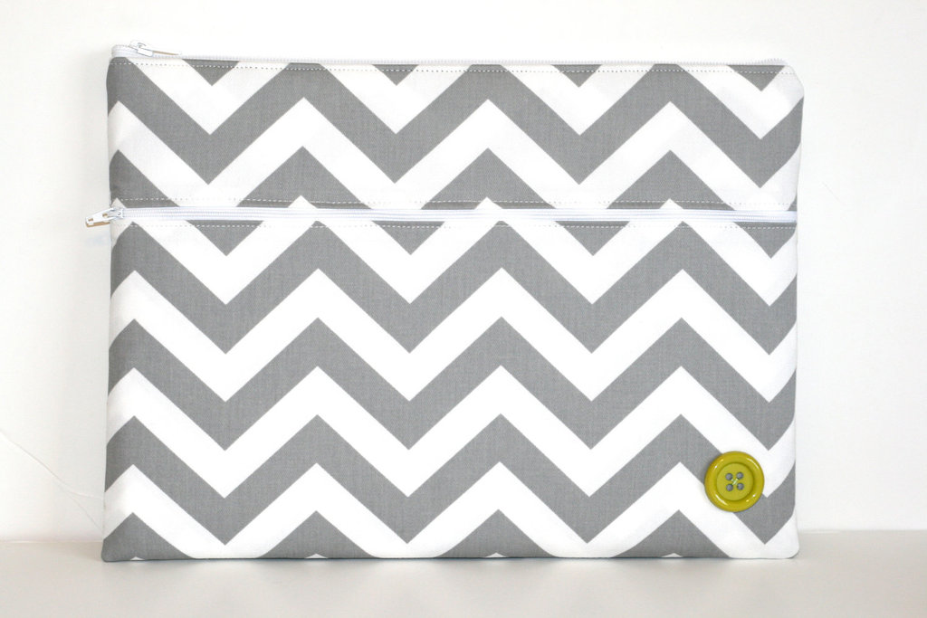 Gray Chevron Stripes Laptop Case ($45)