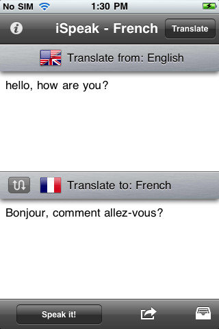 iSpeak French ($2)