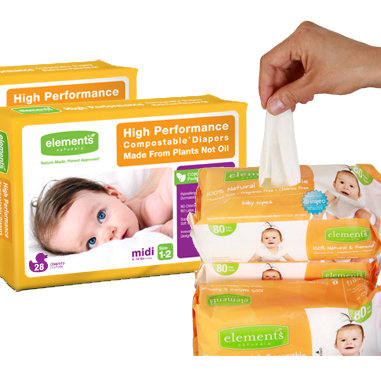 Compostable Diapers and Wipes