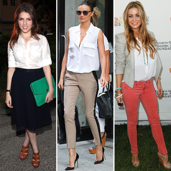 How to Wear a White Button-Down (Celebrity Pictures)
