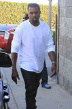 Kanye West met up with Kim Kardashian.