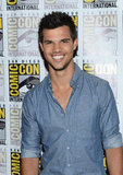 Taylor Lautner went to Comic-Con.